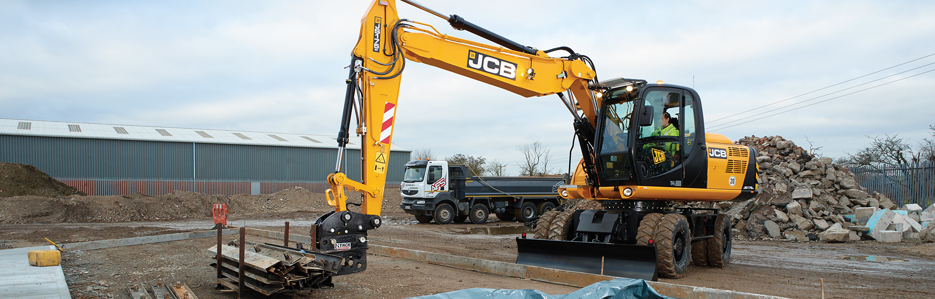 JS175 Wheeled Excavators Saudi Arabia, JCB Dealer - Abunayyan JCB